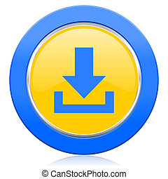 download blue yellow icon