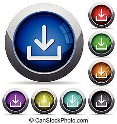 download, botão, jogo