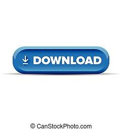 Download button blue vector
