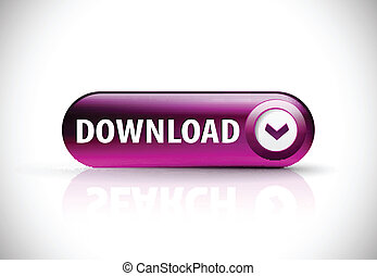 Download button with shadow and reflections.