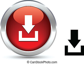 Download button. - Download realistic button. Vector...