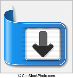 Download Button - Download button, vector eps10 illustration