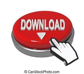 download button hand pointer