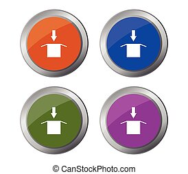 download button icon illustrated in vector on white background