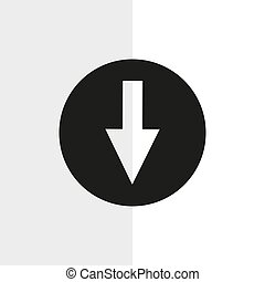 Download button icon on black. Vector icon. eps 10