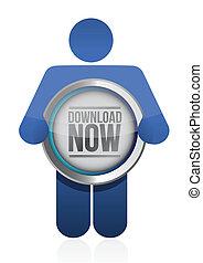 download button illustration design