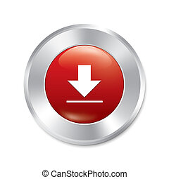 Download button. Red round sticker.