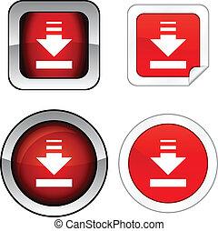 Download  button set.