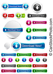 Download button - Vector illustration for your design