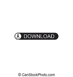 Download button with arrow icon isolated. Upload button. Load symbol. Flat design. Vector Illustration
