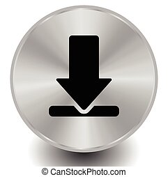 Download buttons, or icons. Editable vector.