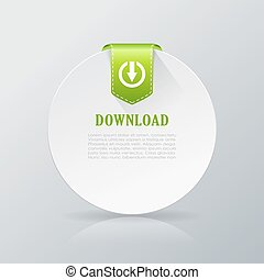 Download card icon on grey background