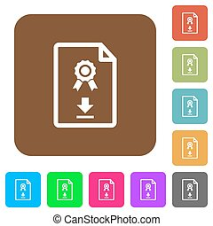 Download certificate rounded square flat icons