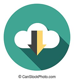 Download Cloud Data Flat Icon