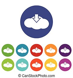 Download cloud flat icon