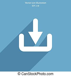 Download cloud flat icon.