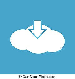 Download cloud white icon
