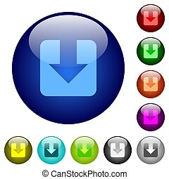 Download color glass buttons