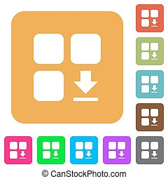 Download component rounded square flat icons