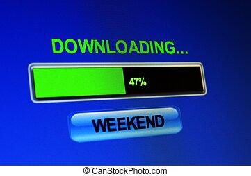 download, conceito, fim semana
