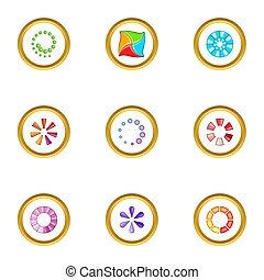 Download cursor icons set, cartoon style