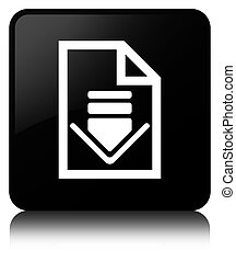 Download document icon black square button