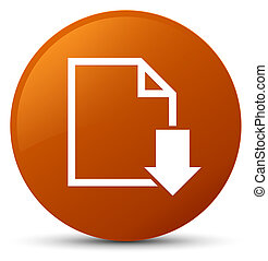 Download document icon brown round button