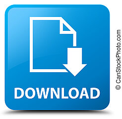 Download (document icon) cyan blue square button