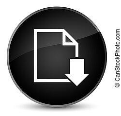 Download document icon elegant black round button