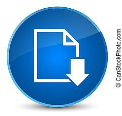 Download document icon elegant blue round button