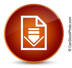 Download document icon elegant brown round button