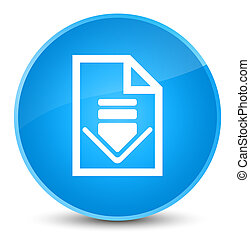 Download document icon elegant cyan blue round button