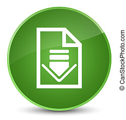 Download document icon elegant soft green round button