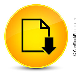 Download document icon elegant yellow round button