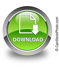 Download (document icon) glossy green round button