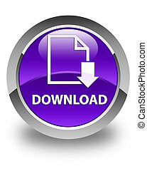 Download (document icon) glossy purple round button