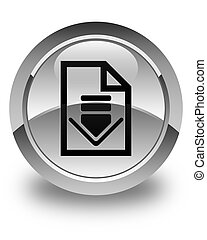 Download document icon glossy white round button