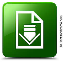 Download document icon green square button