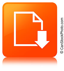 Download document icon orange square button