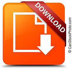 Download (document icon) orange square button red ribbon in corner