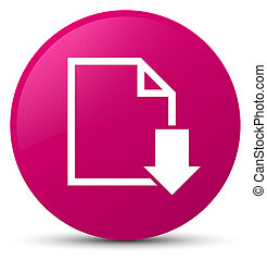 Download document icon pink round button