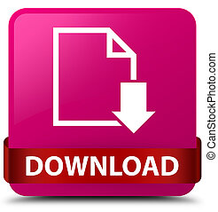 Download (document icon) pink square button red ribbon in middle