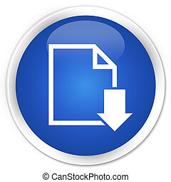 Download document icon premium blue round button