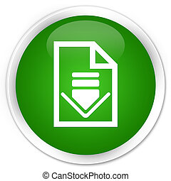 Download document icon premium green round button