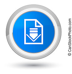 Download document icon prime cyan blue round button