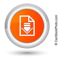 Download document icon prime orange round button
