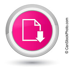 Download document icon prime pink round button