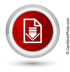 Download document icon prime red round button