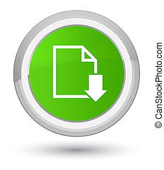 Download document icon prime soft green round button