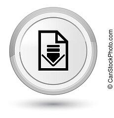 Download document icon prime white round button